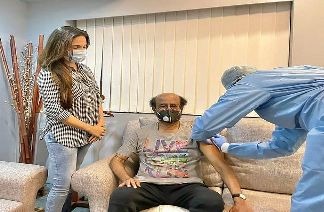 rajinikanth gets second dose of covid vaccine daughter soundarya share posts