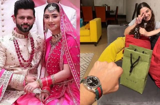 disha parmar gifted boyfriend rahul vaidya luxury watch