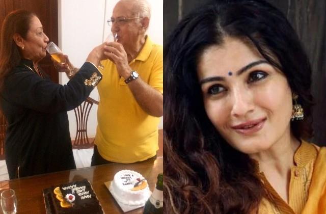 raveena tandon congratulate parents wedding anniversary by loving post