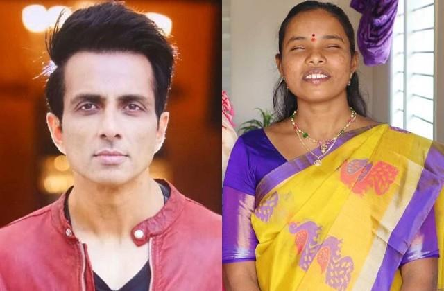 blind girl danoted money in sonu sood foundation
