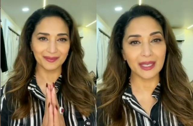 madhuri dixit thanked the fans for birthday wishes