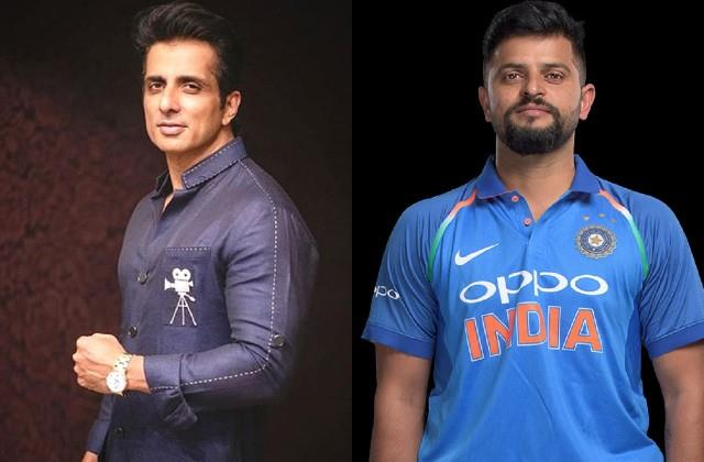 sonu sood helps cricketer suresh raina get oxygen cylinder for his aunt