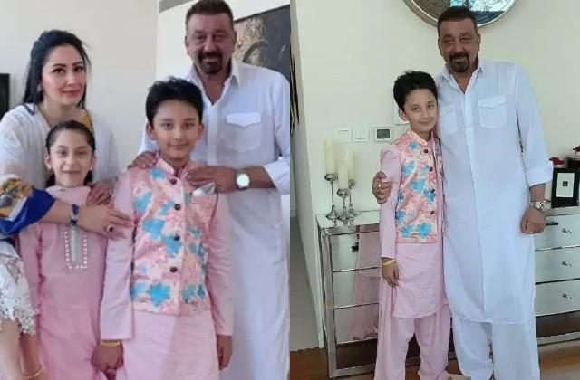 sanjay dutt celebrates eid with family in dubai