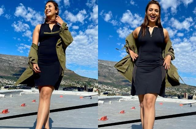 divyanka tripathi shares her hot photos from cape town