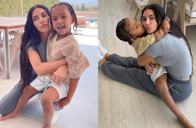 kim kardashian share photos with daughter