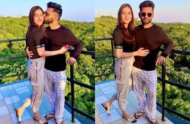 rahul vaidya shares romantic photos with girlfriend disha parmar