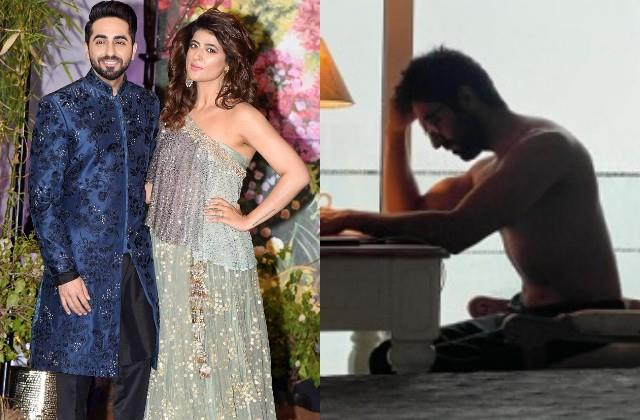 tahira kashyap shares her husband ayushmann khurrana shirtless photo