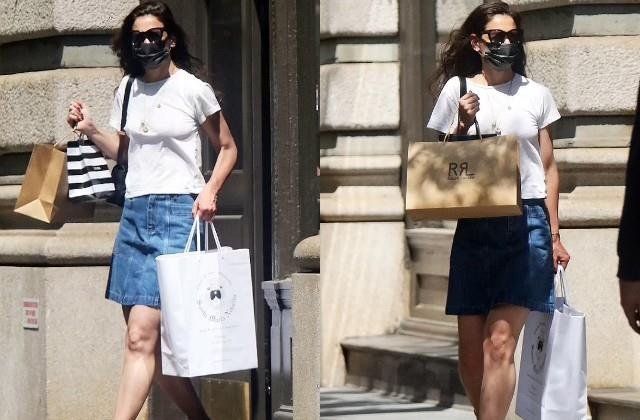 katie holmes spotted in new york