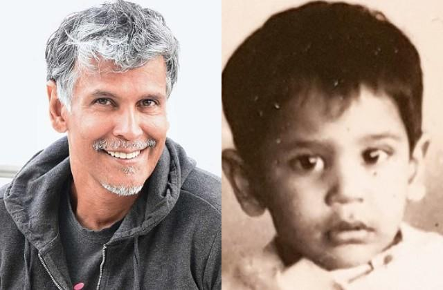 milind soman shared his childhood photo