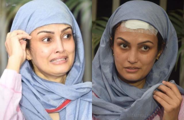 karan mehra injured wife nisha rawal cried during media conversation