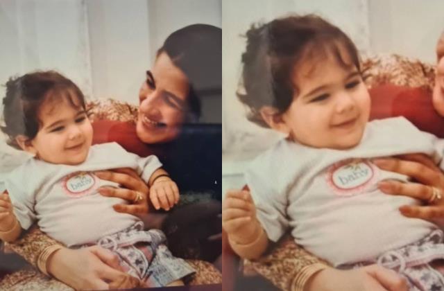 saif ali khan sister saba ali khan share sara ali childhood picture
