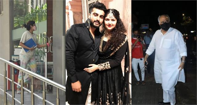 arjun kapoor sister anshula hospitalized janhvi boney arrive to meet