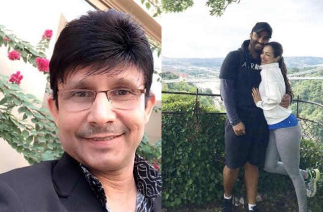 krk shares arjun kapoor malaika arora pic calling him fearless tiger