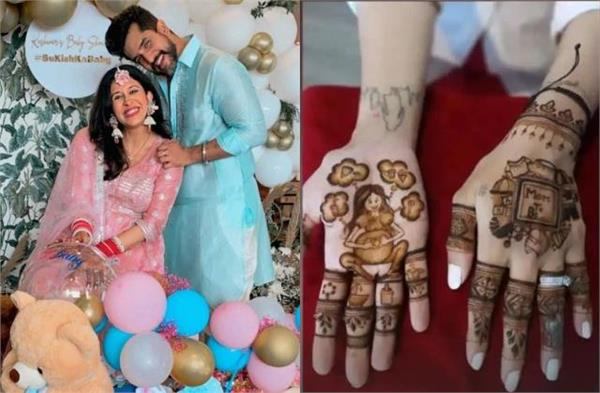 mom to be kishwer merchant turn bride in her baby shower