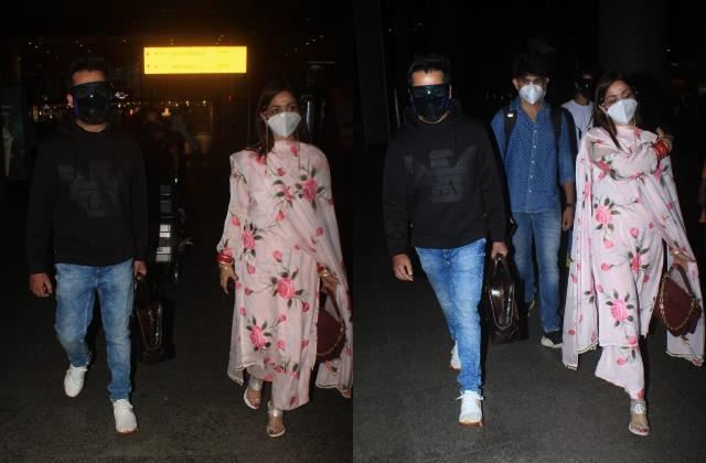yami gautam and aditya dhar make their first public appearance in mumbai