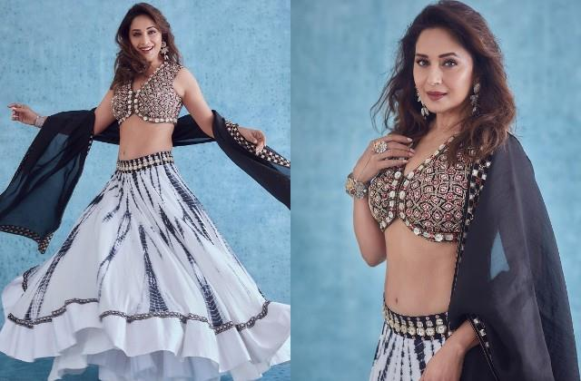 madhuri dixit shares her gorgeous photos in lehenga look