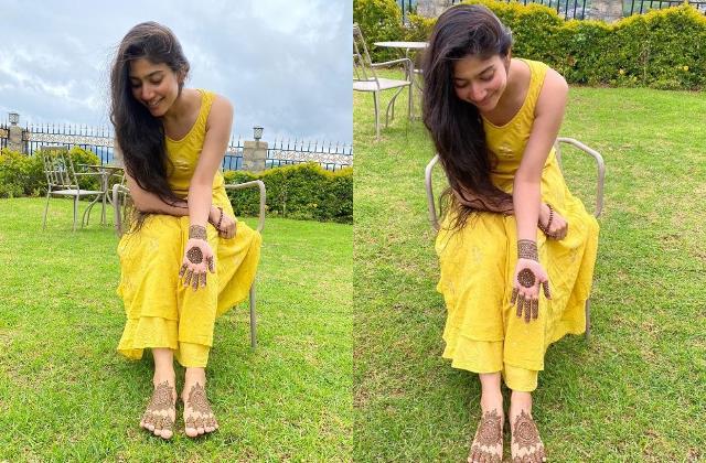 south actress sai pallavi flaunts her mehendi in new pics
