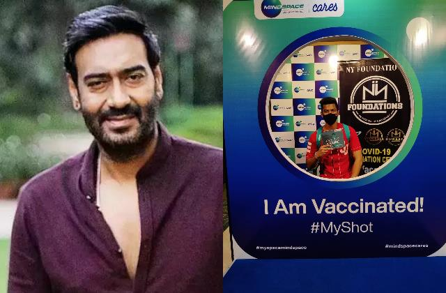 ajay devgn ny foundation conducts a mass vaccination camp in mumbai