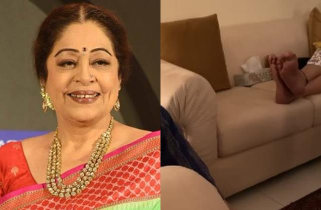 kirron kher refuses to show her face in son sikander kher video