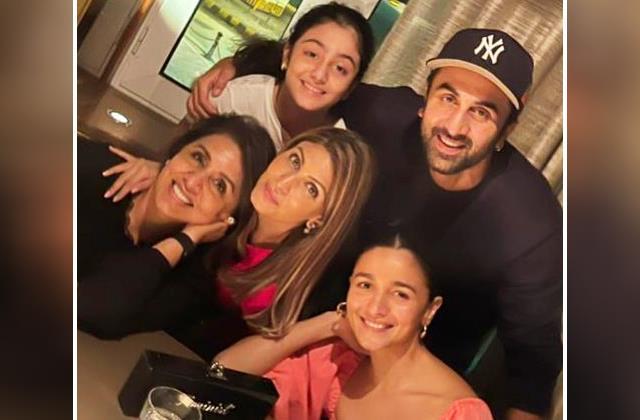 neetu share family photo featuring ranbir and alia calls them my world