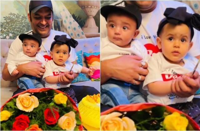 kapil sharma son trishaan first photo with sister anayra sharma