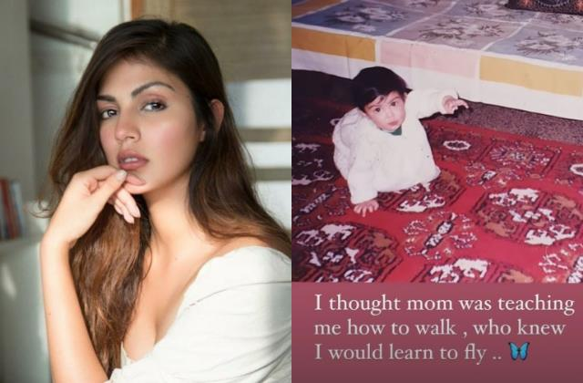 rhea chakraborty shares notes on positivity who knew i would learn to fly