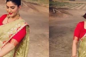 sapna choudhary shares her gorgeous photos in saree look