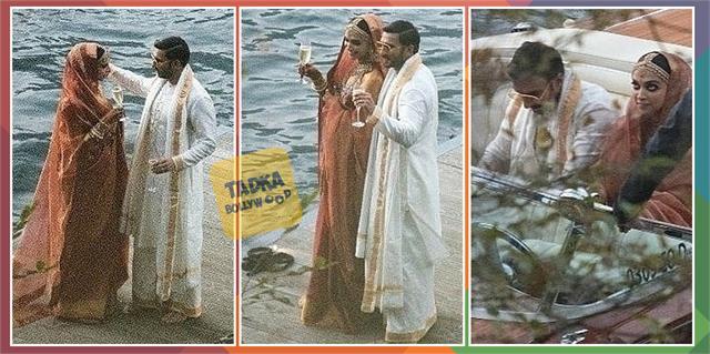 deepika padukone ranveer singh raise a toast as newlyweds in unseen wedding pics