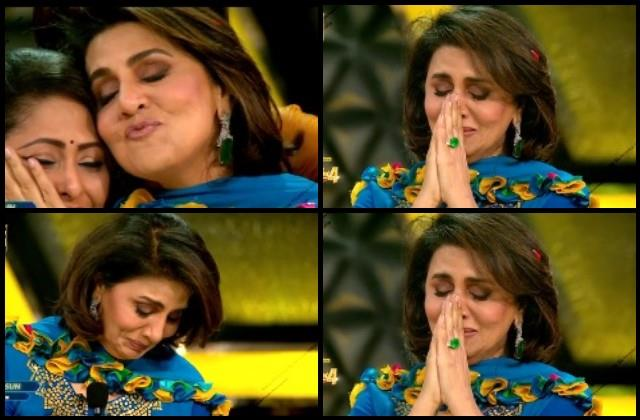 neetu kapoor became emotional after watching the dance at super dancer chapter