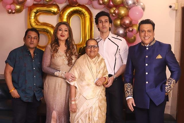 govinda celebrate wife sunita ahuja s 50th birthday