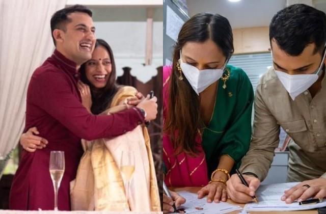 danish sait ties knot with anya rangaswami