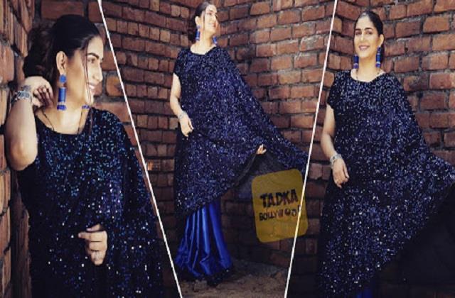 ब्लू साड़ी में सपना चौधरी ने करवाया फोटोशूट, हसीना की खूबसूरत तस्वीरें देख दीवाने हुए फैंस