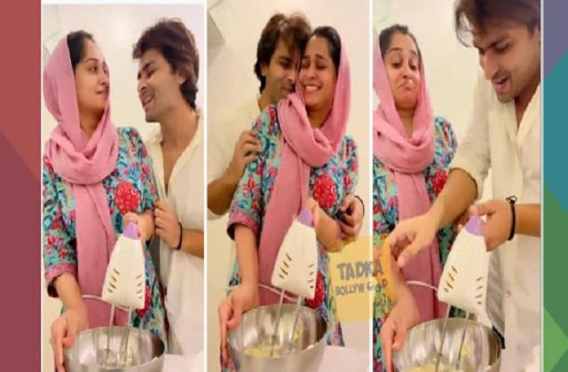 shoaib ibrahim and dipika kakkar made cake while romance video viral
