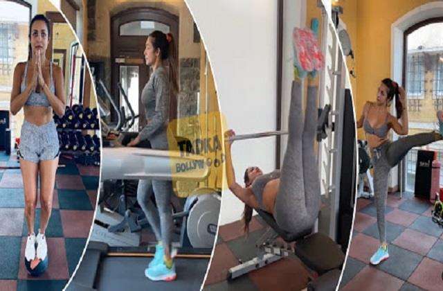 malaika arora preparing for international yoga day and shares her workout video