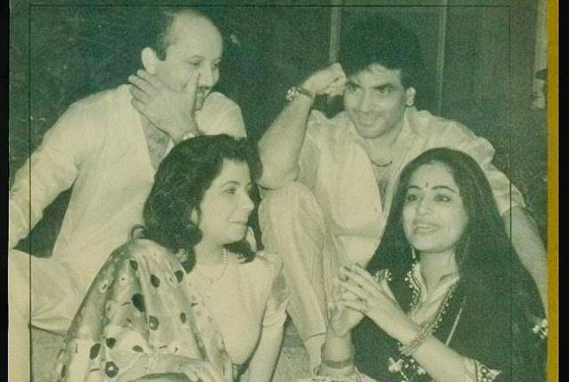 anupam kher found old pic with kirron jeetendra and shobha kapoor in the book