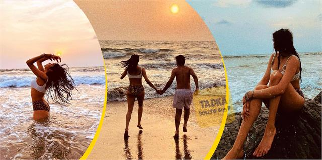 janhvi walk beach with mystery man actress pictures turns internet temperature