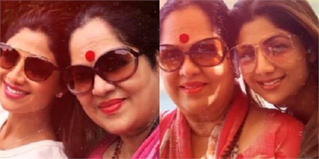 shilpa shetty wishes birthday to mother sunanda shetty
