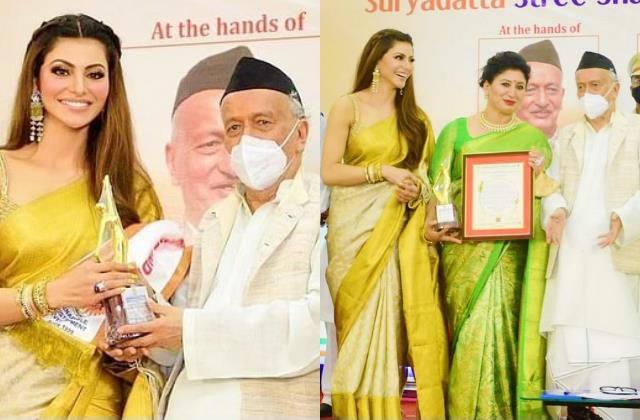 urvashi rautela awarded with stree shakti national award 2021