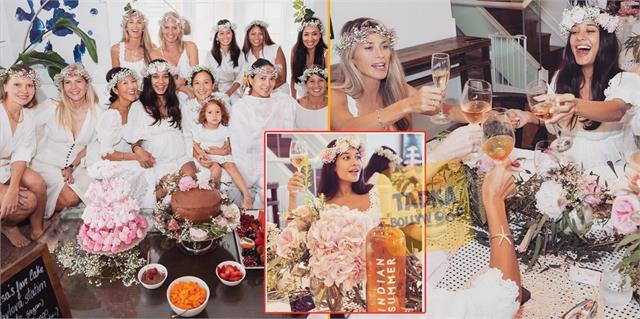 lisa haydon baby shower celebration photos