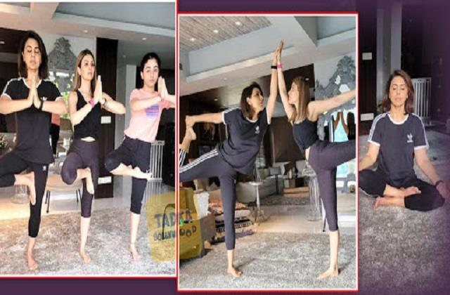 neetu kapoor yoga with daughter riddhima kapoor and granddaughter samara