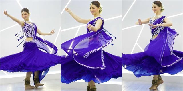 urvashi rautela looks stunning in blue lehenga
