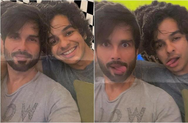 shahid kapoor shares photos with brother ishaan khatter