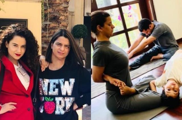 kangana ranaut share sister rangoli chandel yoga story