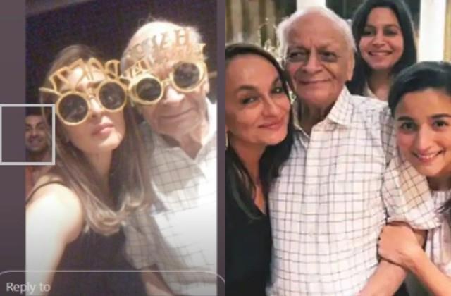 ranbir attend alia bhatt maternal grandfather birthday party with family