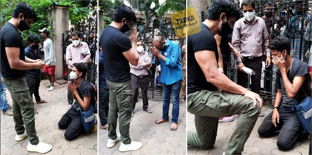 needy person cry in front of sonu sood fans praise actor these action