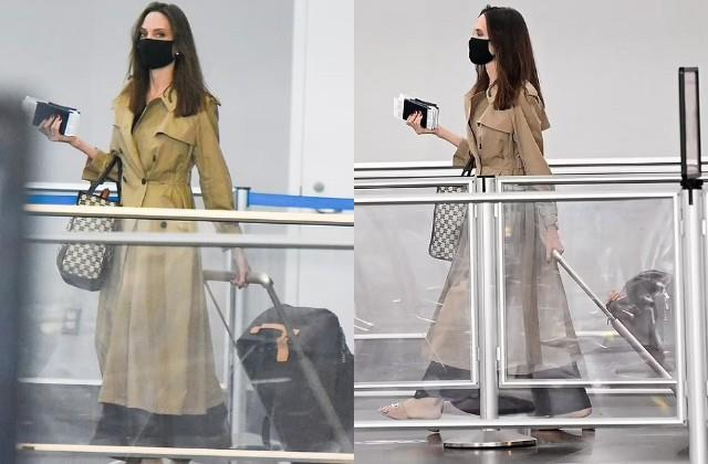 angelina jolie spotted at airport