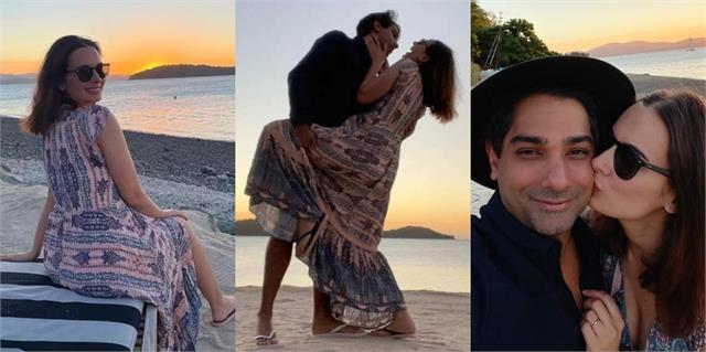 evelyn sharma enjoys honeymoon with husband after marriage