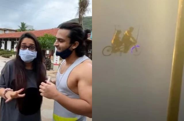 when dipika kakar shoaib ibrahim stuck in air while sky cycling