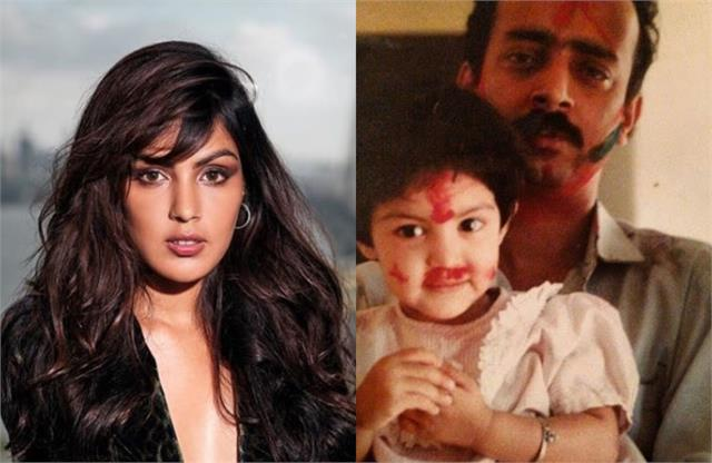 rhea chakraborty pens a powerful note for her papa on father day