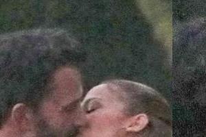 jennifer lopez ben affleck kissing photos viral